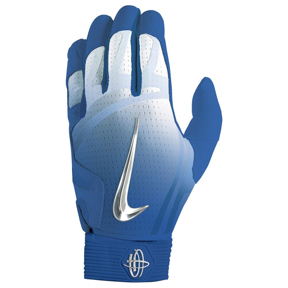 ナイキ Nike メンズ 野球 バッティンググローブ グローブ【Huarache Elite Batting Gloves】Game Royal/Chrome/Light Aqua