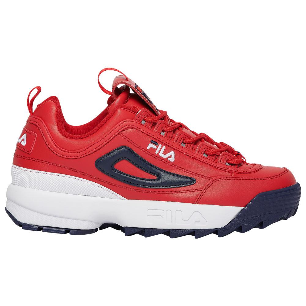 フィラ Fila メンズ フィットネス・トレーニング シューズ・靴【Disruptor II】Red/White/Navy Premium