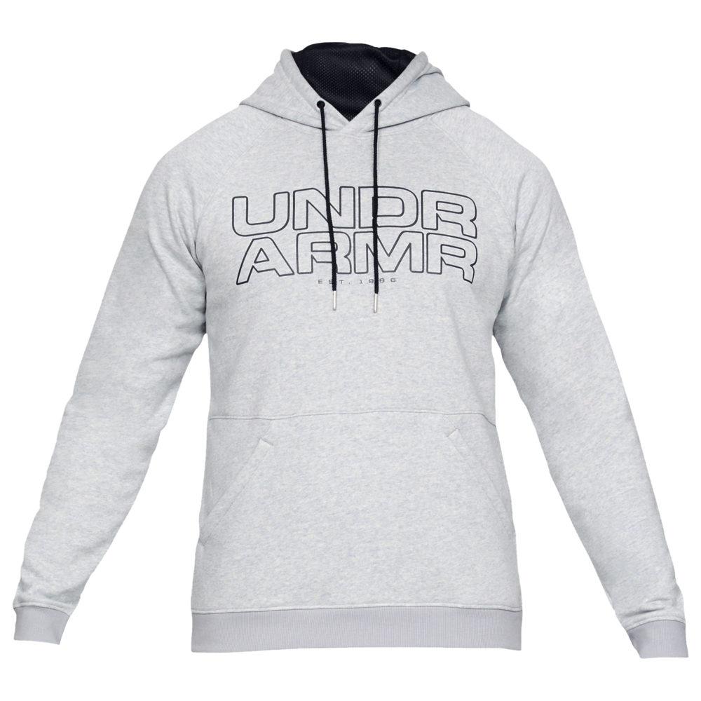 アンダーアーマー Under Armour メンズ バスケットボール パーカー トップス【Baseline Fleece Hoodie】Mod Grey Light Heather/Black
