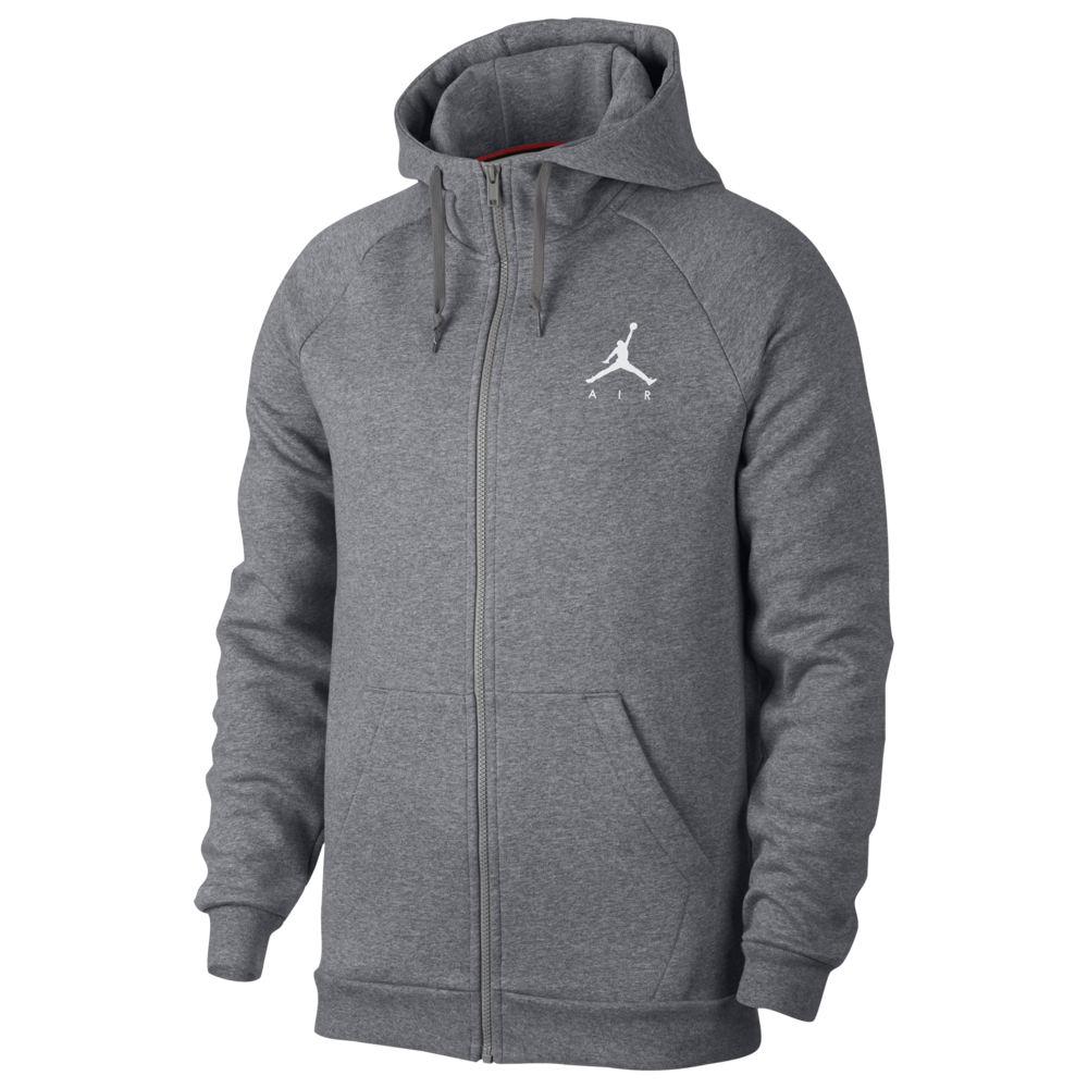 ナイキ ジョーダン Jordan メンズ バスケットボール ジャンプマン パーカー トップス【Jumpman Air Fleece Full-Zip Hoodie】Carbon Heather/White