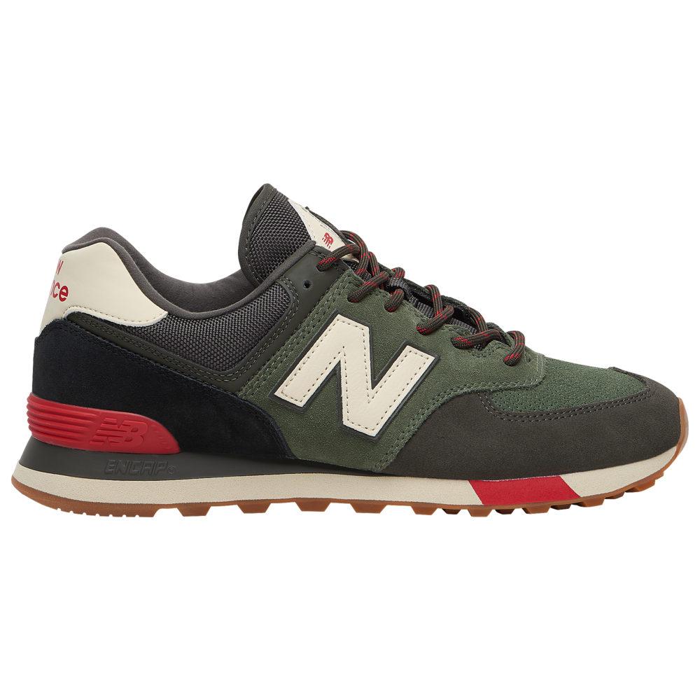 ニューバランス New Balance メンズ ランニング・ウォーキング シューズ・靴【574】Camo Green/Team Red