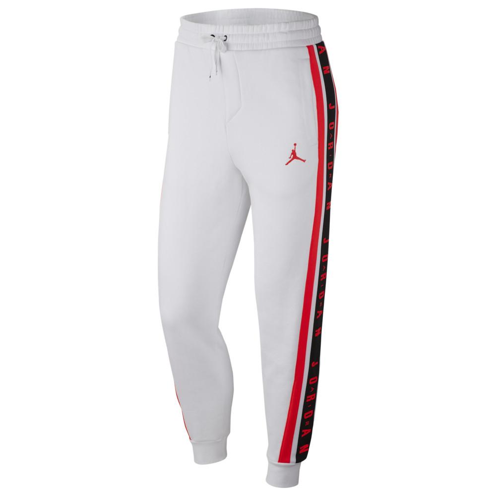 ナイキ ジョーダン Jordan メンズ バスケットボール ジャンプマン ボトムス・パンツ【Jumpman Taped Pants】White/Infrared