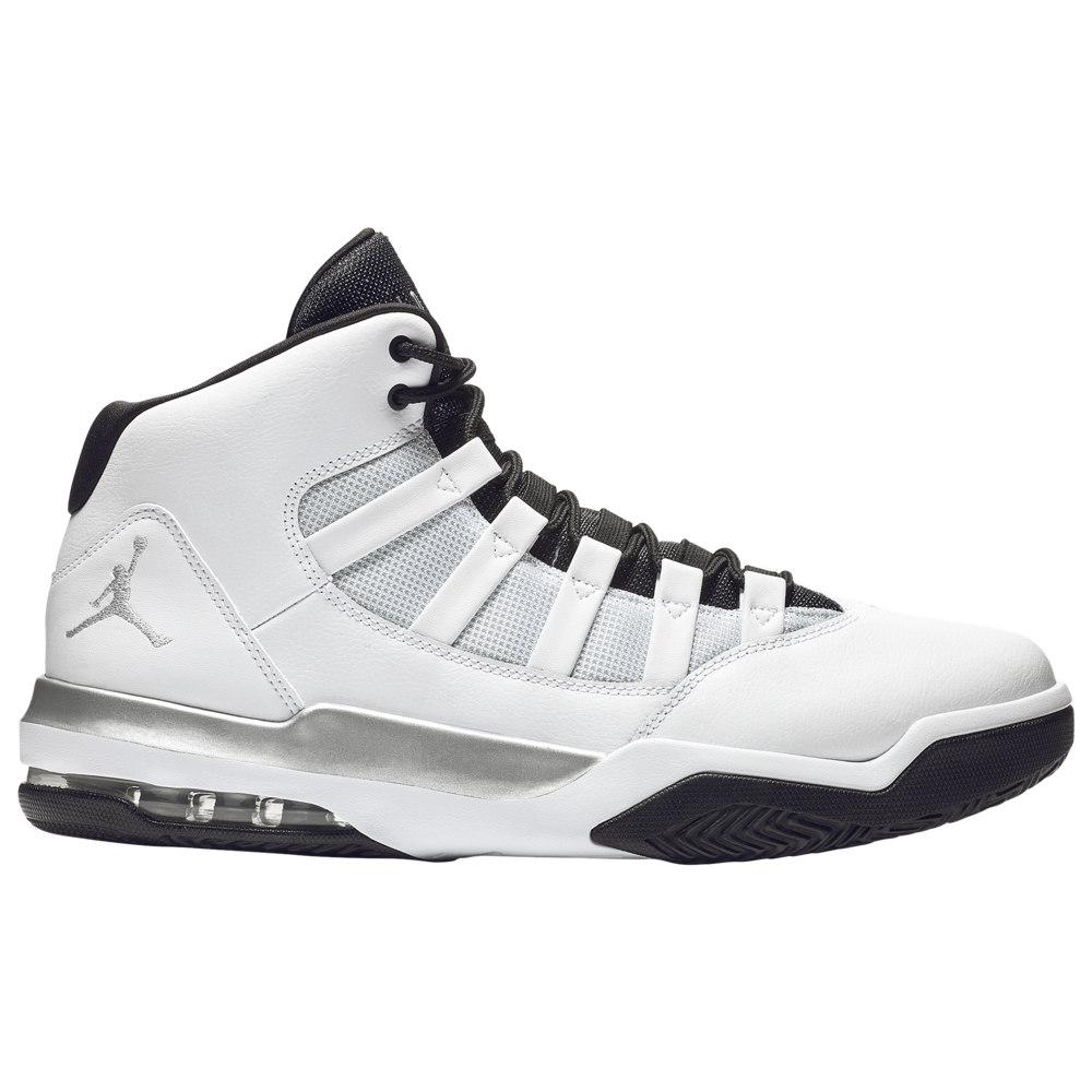 ナイキ ジョーダン Jordan メンズ バスケットボール シューズ・靴【Max Aura】White/Metallic Silver/Black