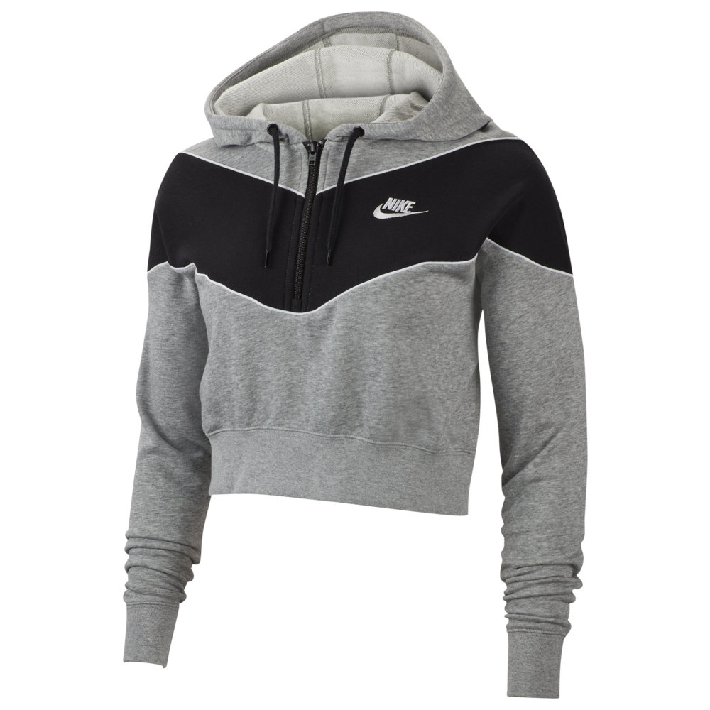 ナイキ Nike レディース パーカー トップス【Heritage Half-Zip Hoodie】Dark Grey Heather/Black/Dark Grey Heather