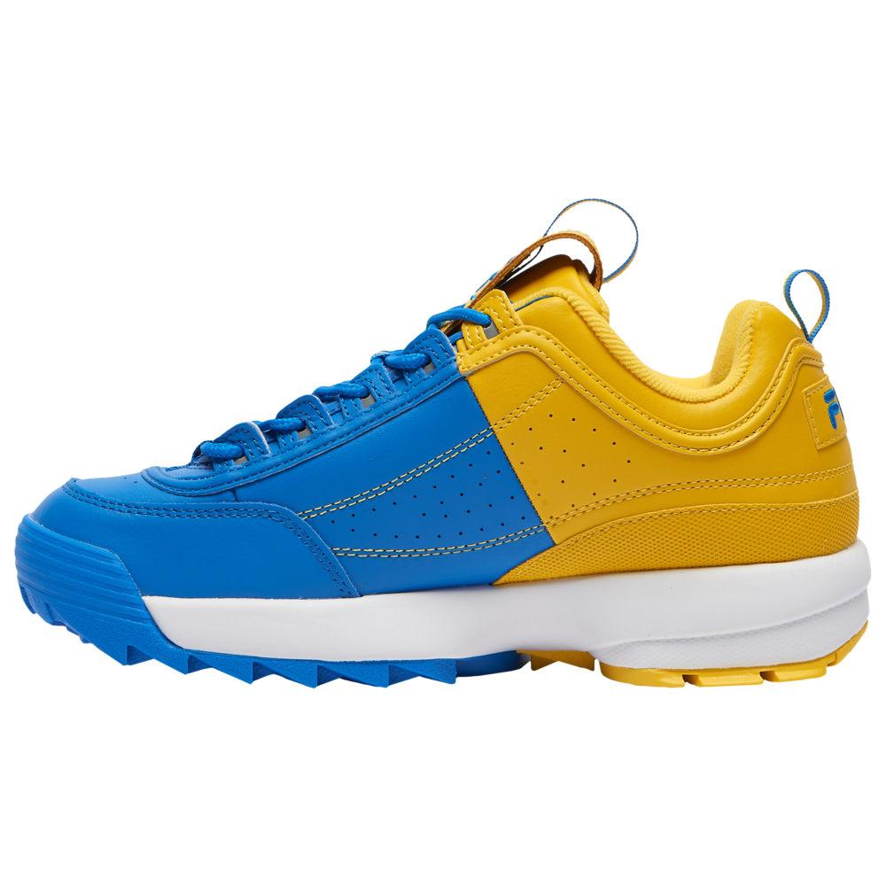 フィラ Fila メンズ フィットネス・トレーニング シューズ・靴【Disruptor II】Lemon/Electric Blue/White Split