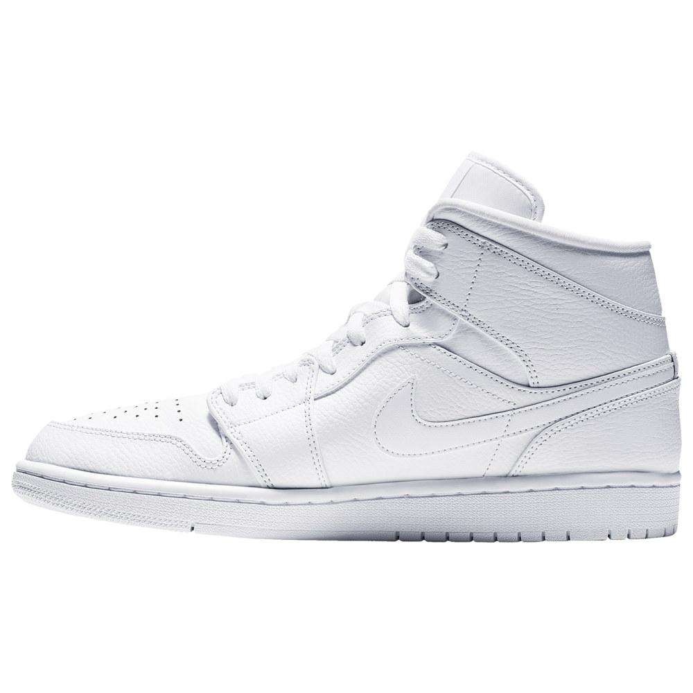 ナイキ ジョーダン Jordan メンズ バスケットボール シューズ・靴【AJ 1 Mid】White/White/White