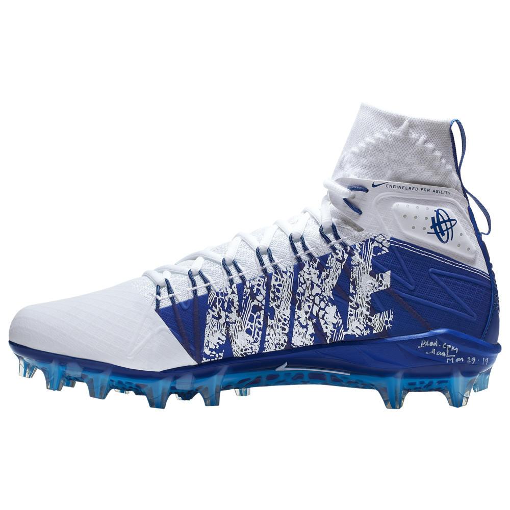 ナイキ Nike メンズ ラクロス シューズ・靴【Alpha Huarache 7 Elite LAX】White/Gym Blue