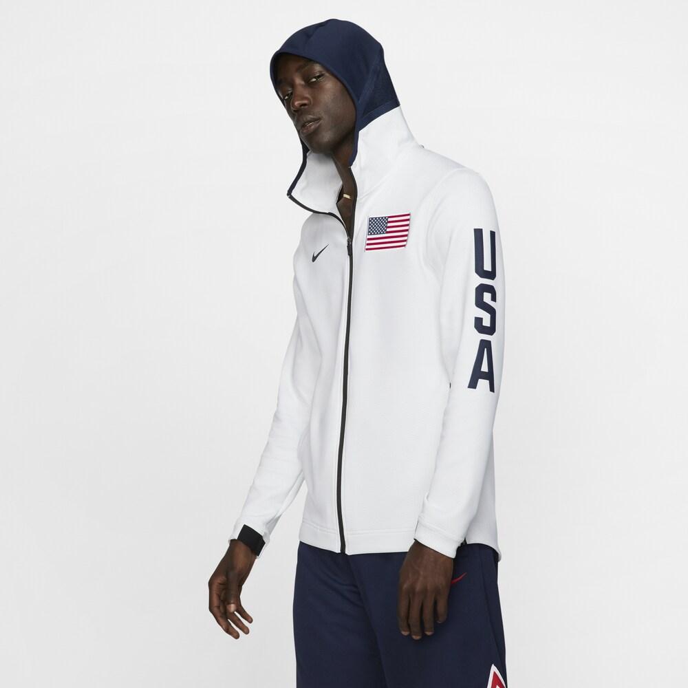 ナイキ Nike メンズ バスケットボール パーカー トップス【Thermaflex Showtime FZ Hoodie】World Basketball USA White/Obsidian