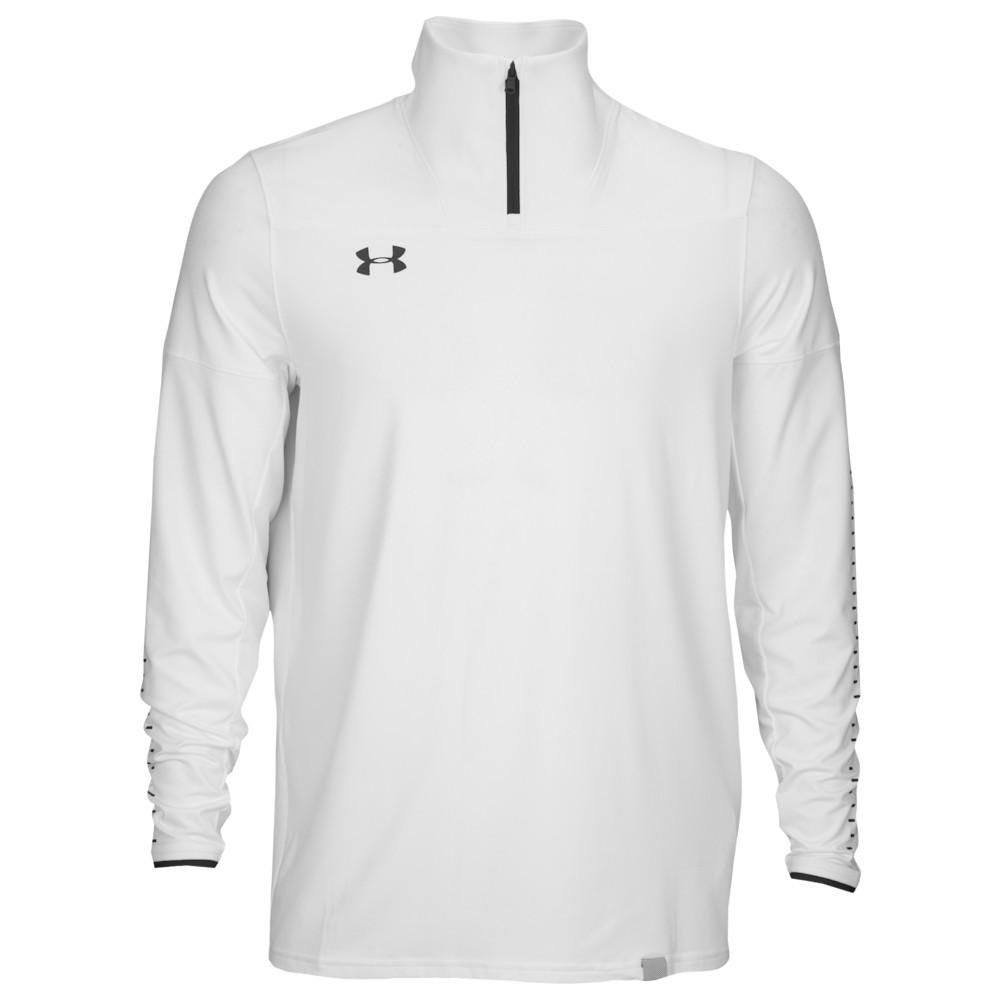 アンダーアーマー Under Armour メンズ フィットネス・トレーニング トップス【Team Knit 1/4 Zip】White/Black