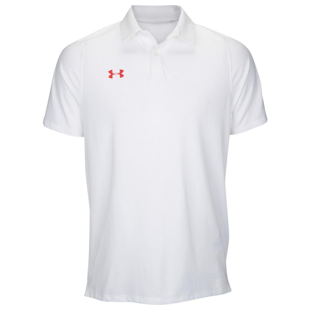 アンダーアーマー Under Armour メンズ フィットネス・トレーニング トップス【Team Pinnacle Polo】White/Red