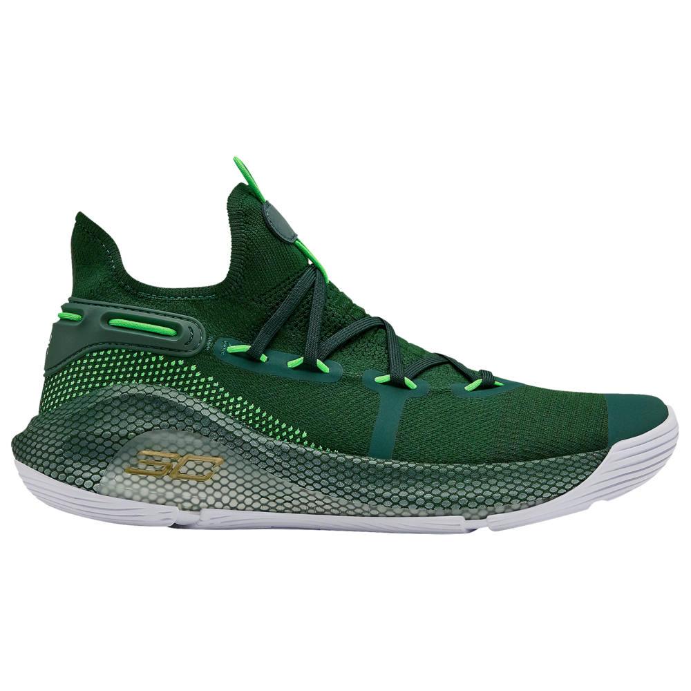 アンダーアーマー Under Armour メンズ バスケットボール シューズ・靴【Curry 6】Stephen Curry Forest Green/White/Metallic Gold