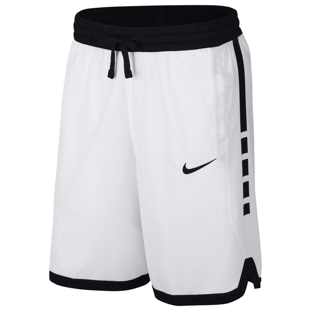 ナイキ Nike メンズ バスケットボール ショートパンツ ボトムス・パンツ【Elite Stripe Shorts】White/Black
