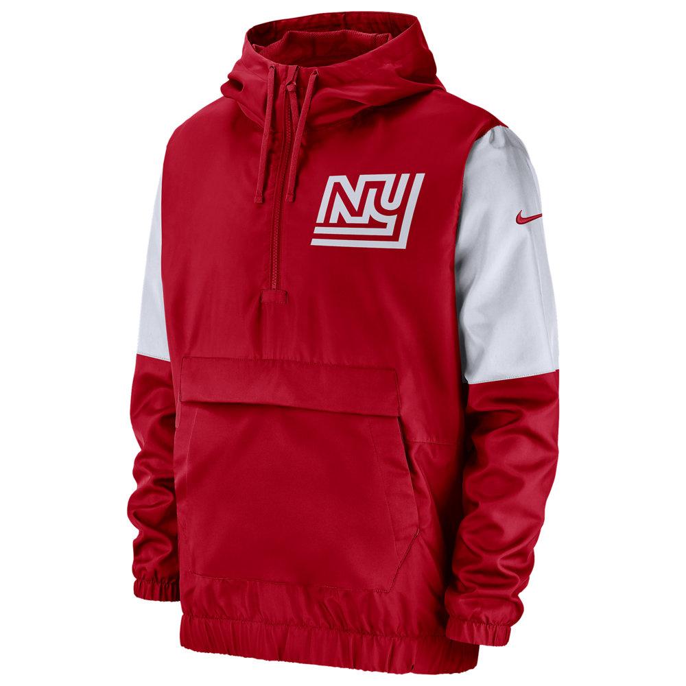 ナイキ Nike メンズ ジャケット アノラック アウター【NFL Historic 1/4 Zip Anorak Jacket】NFL New York Giants University Red