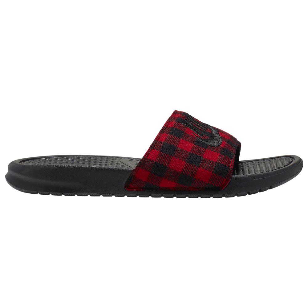 ナイキ Nike メンズ サンダル シューズ・靴【Benassi JDI SE Slide】Black/Black/University Red
