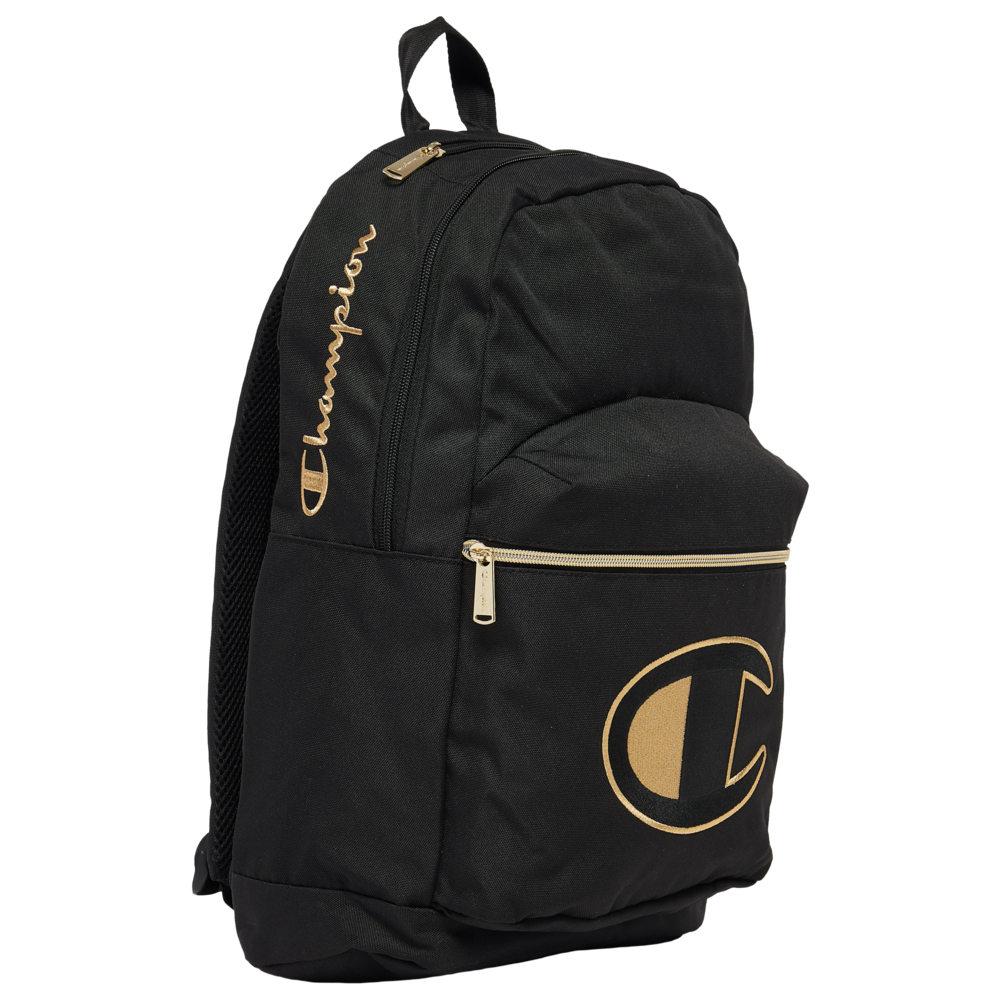 チャンピオン Champion ユニセックス バックパック・リュック バッグ【Supercize Novelty Backpack】Black/Gold