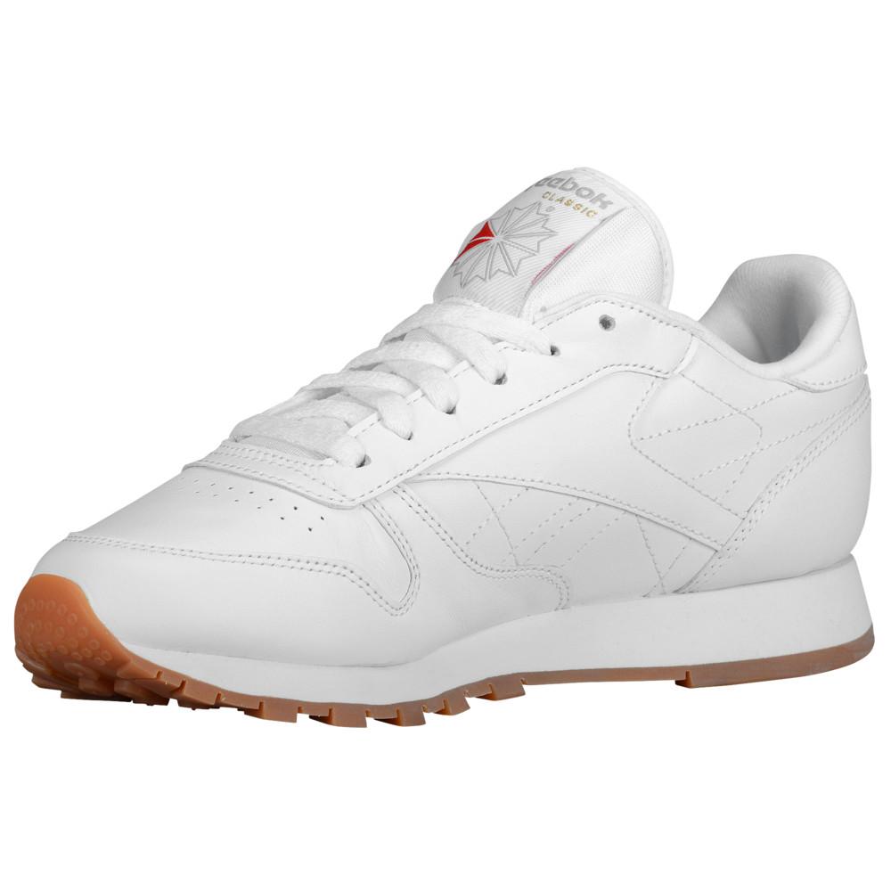 リーボック Reebok レディース ランニング・ウォーキング シューズ・靴【Classic Leather】White/Gum