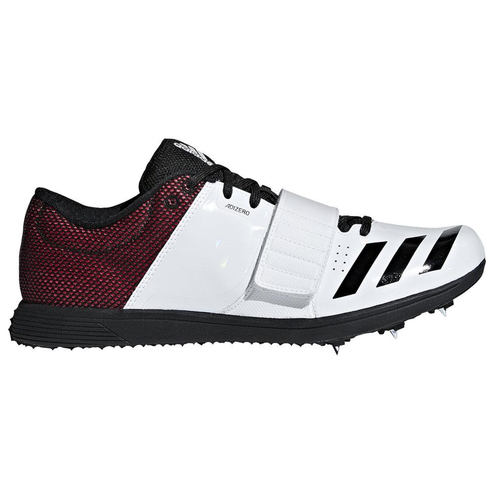 アディダス adidas メンズ 陸上 シューズ・靴【adiZero TJ/PV】White/Core Black/Shock Red