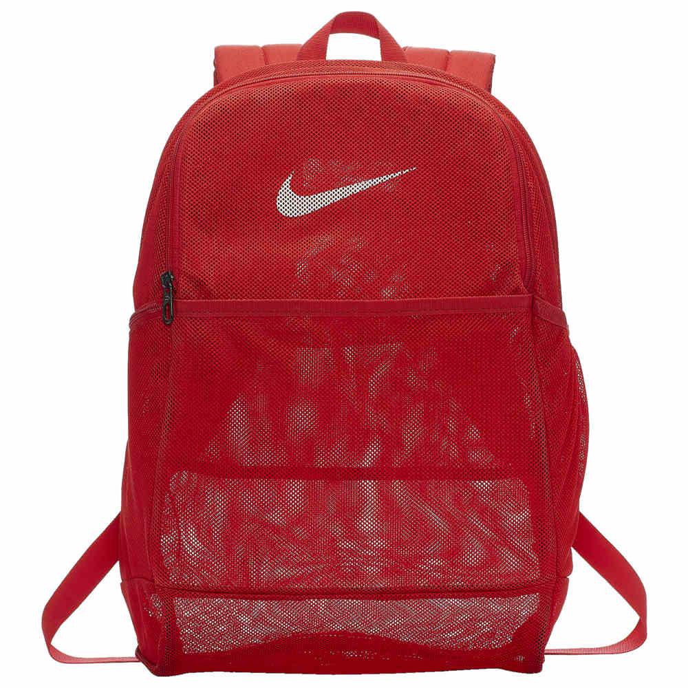ナイキ Nike ユニセックス バックパック・リュック バッグ【Brasilia Mesh Backpack】University Red