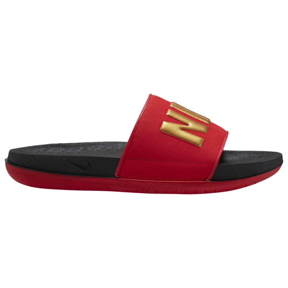 ナイキ Nike レディース バスケットボール シューズ・靴【Offcourt Slide】Black/Metallic Gold/University Red Glam Dunk