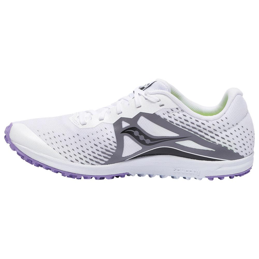 サッカニー Saucony レディース 陸上 シューズ・靴【Kilkenny XC8 Flat】White/Purple