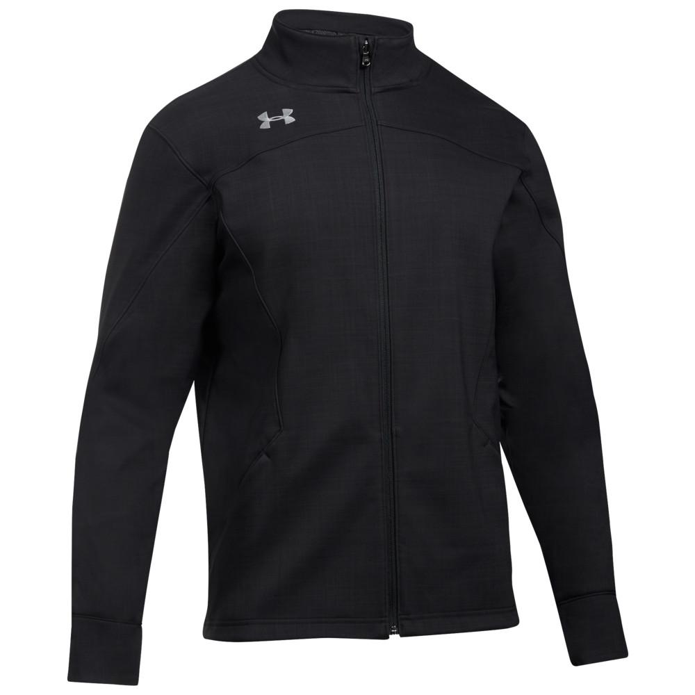 アンダーアーマー Under Armour メンズ フィットネス・トレーニング ソフトシェルジャケット アウター【Team Barrage Softshell Jacket】Black/Steel