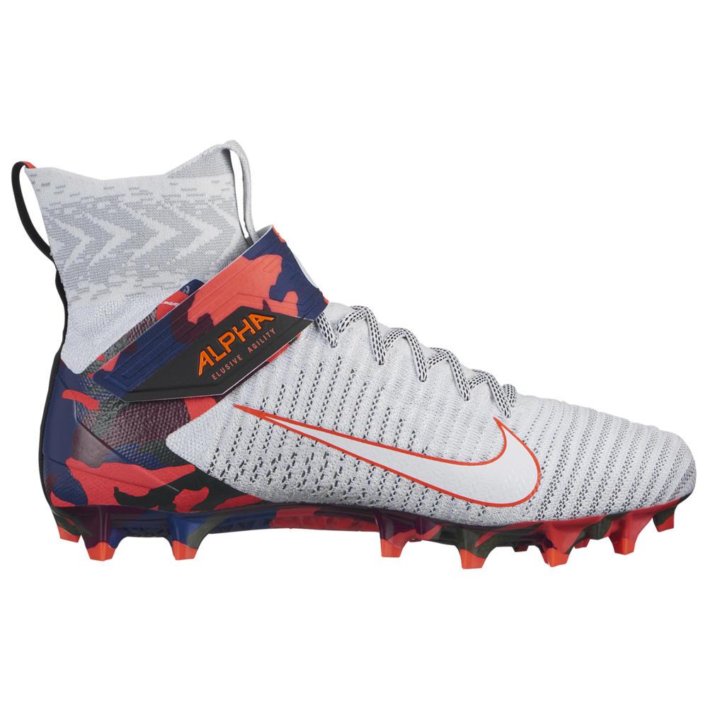 ナイキ Nike メンズ アメリカンフットボール シューズ・靴【Alpha Menace Elite 2】White/White/Black/Bright Crimson