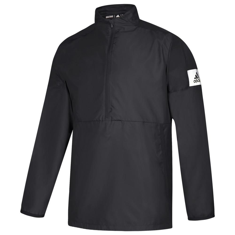 アディダス adidas メンズ フィットネス・トレーニング ジャケット アウター【Team Game Mode L/S 1/4 Zip Jacket】Black/White