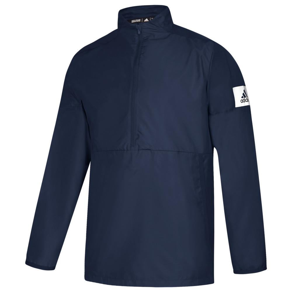 アディダス adidas メンズ フィットネス・トレーニング ジャケット アウター【Team Game Mode L/S 1/4 Zip Jacket】Collegiate Navy/White