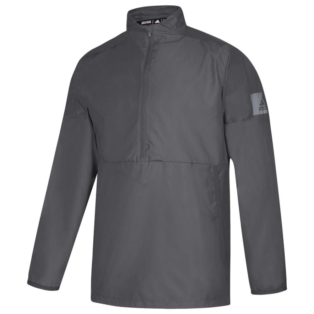 アディダス adidas メンズ フィットネス・トレーニング ジャケット アウター【Team Game Mode L/S 1/4 Zip Jacket】Grey Five/Grey Anr