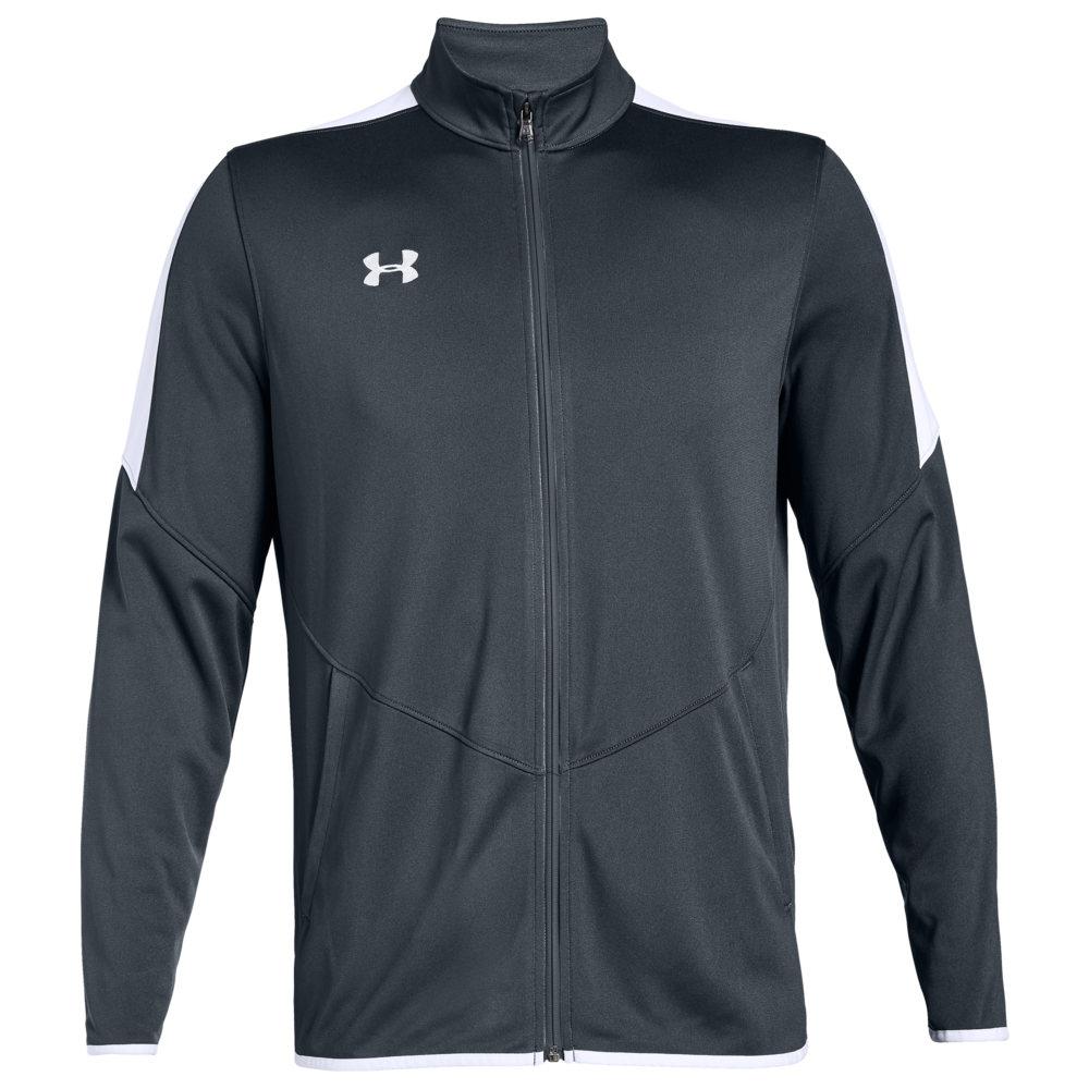 アンダーアーマー Under Armour Team メンズ フィットネス・トレーニング ジャケット アウター【Team Rival Knit Warm-Up Jacket】Steel Grey/White
