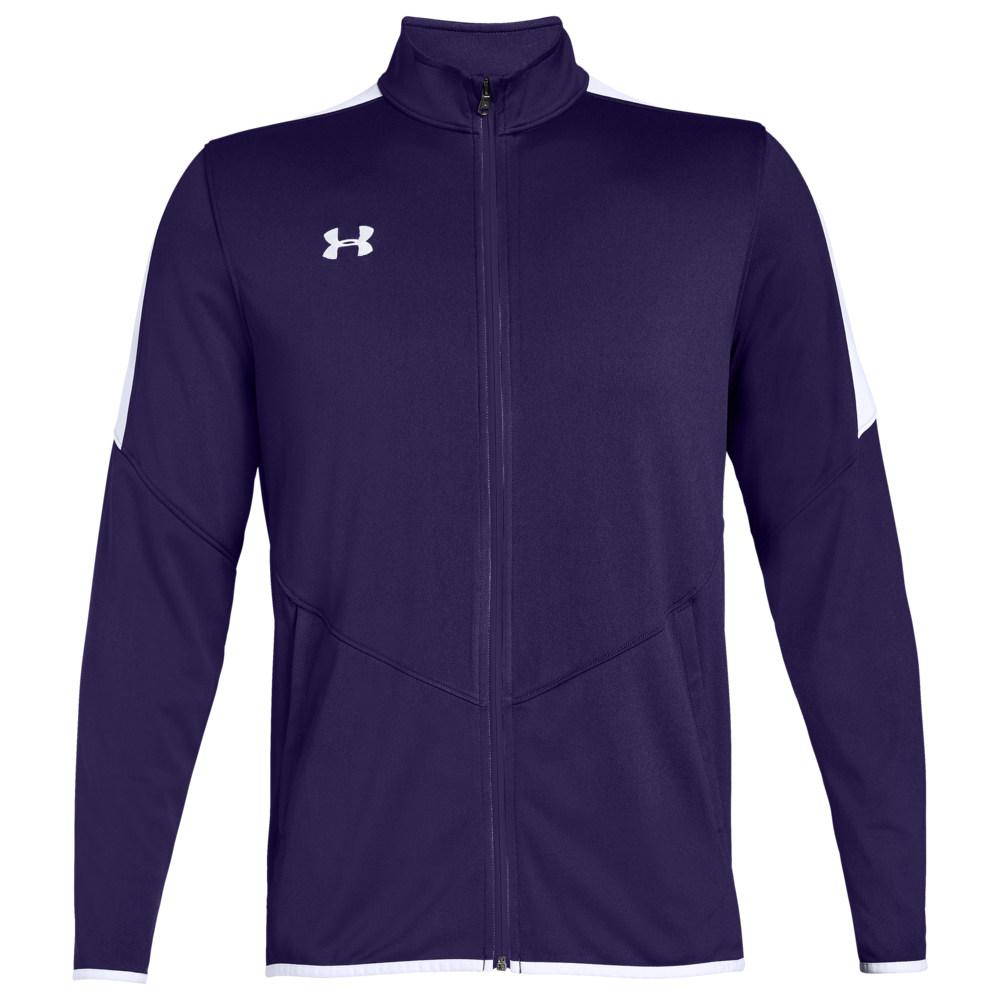 アンダーアーマー Under Armour Team メンズ フィットネス・トレーニング ジャケット アウター【Team Rival Knit Warm-Up Jacket】Purple/White