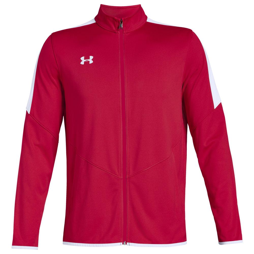 アンダーアーマー Under Armour Team メンズ フィットネス・トレーニング ジャケット アウター【Team Rival Knit Warm-Up Jacket】Red/White