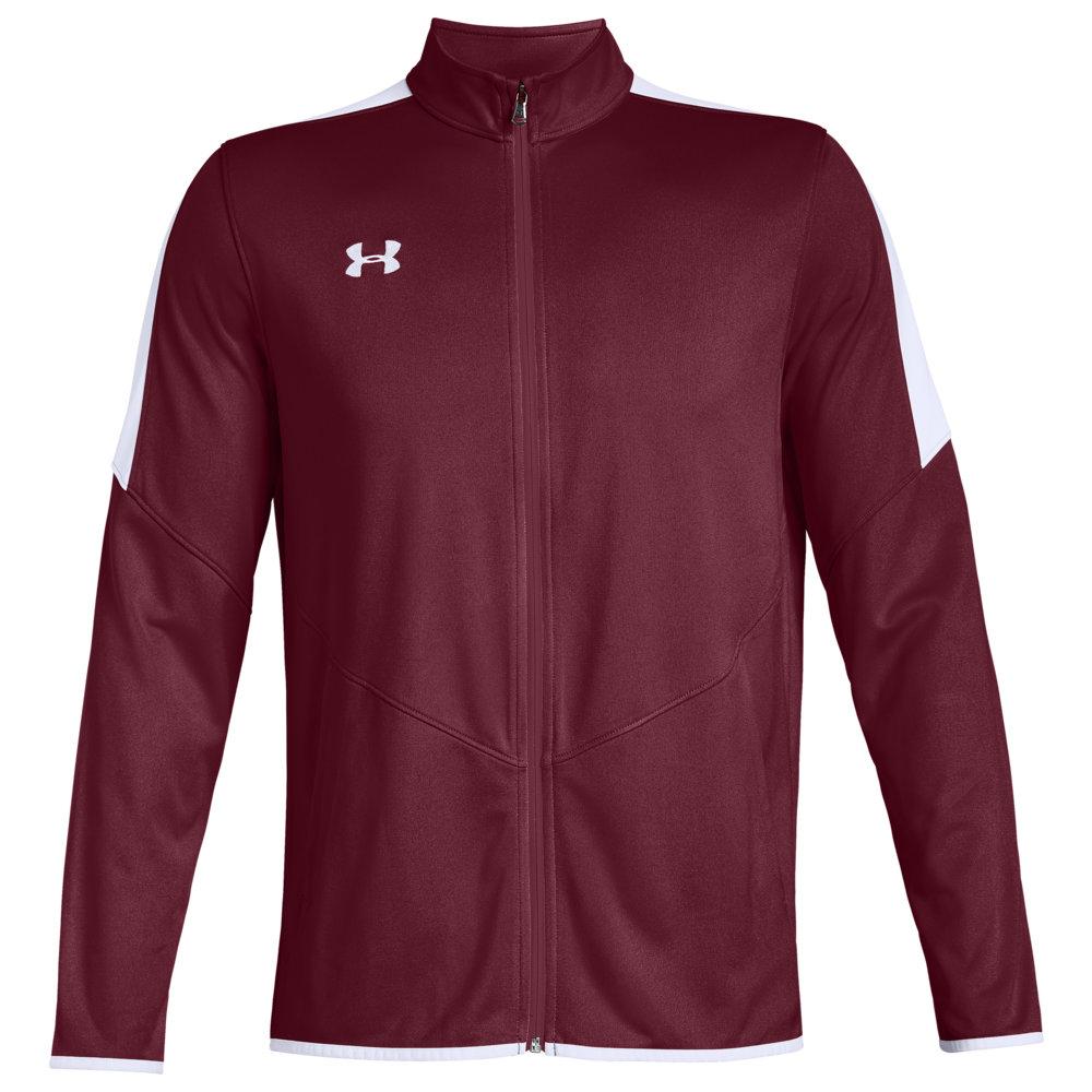 アンダーアーマー Under Armour Team メンズ フィットネス・トレーニング ジャケット アウター【Team Rival Knit Warm-Up Jacket】Cardinal/White