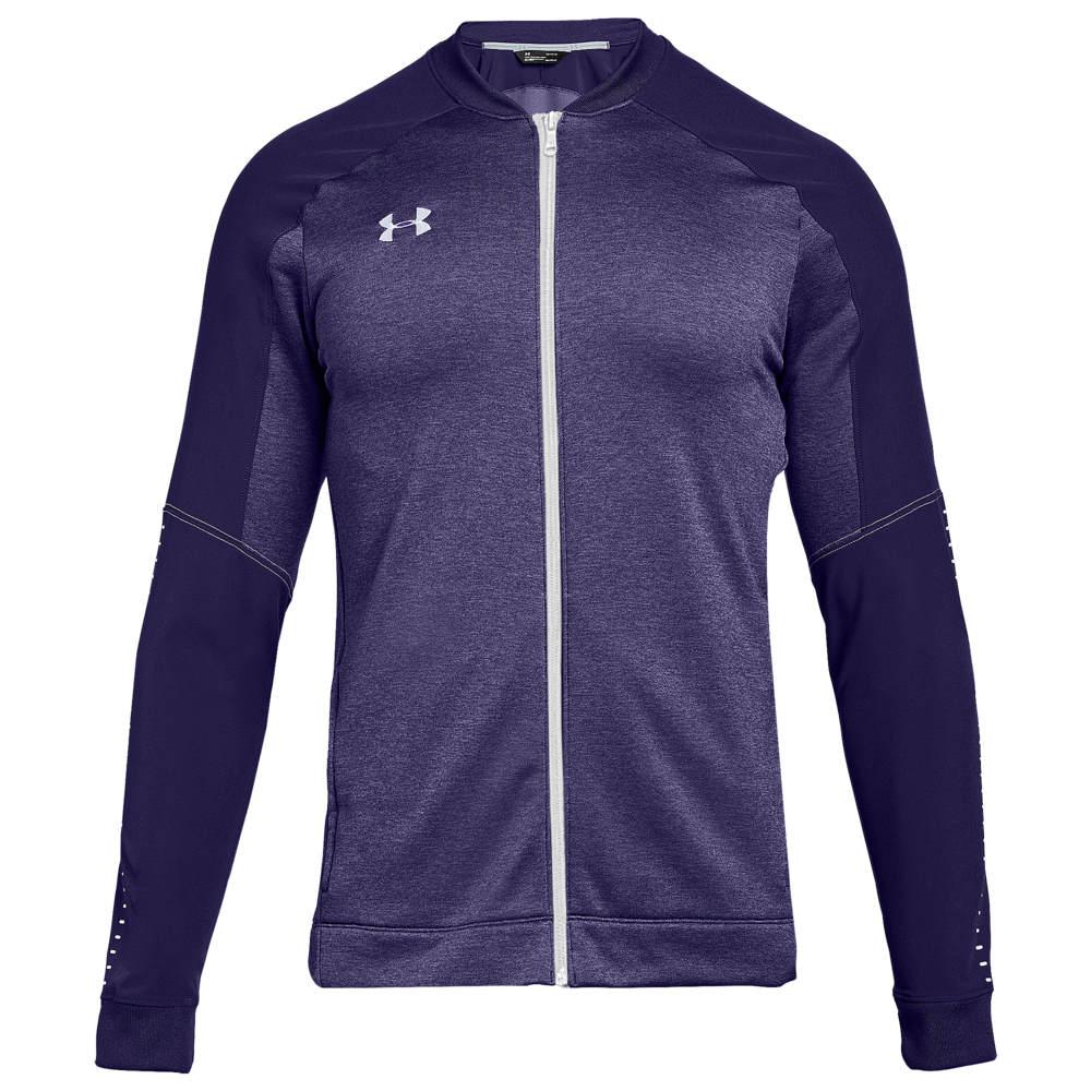 アンダーアーマー Under Armour メンズ フィットネス・トレーニング ジャケット アウター【Team Qualifier Hybrid Warm-Up Jacket】Purple/White