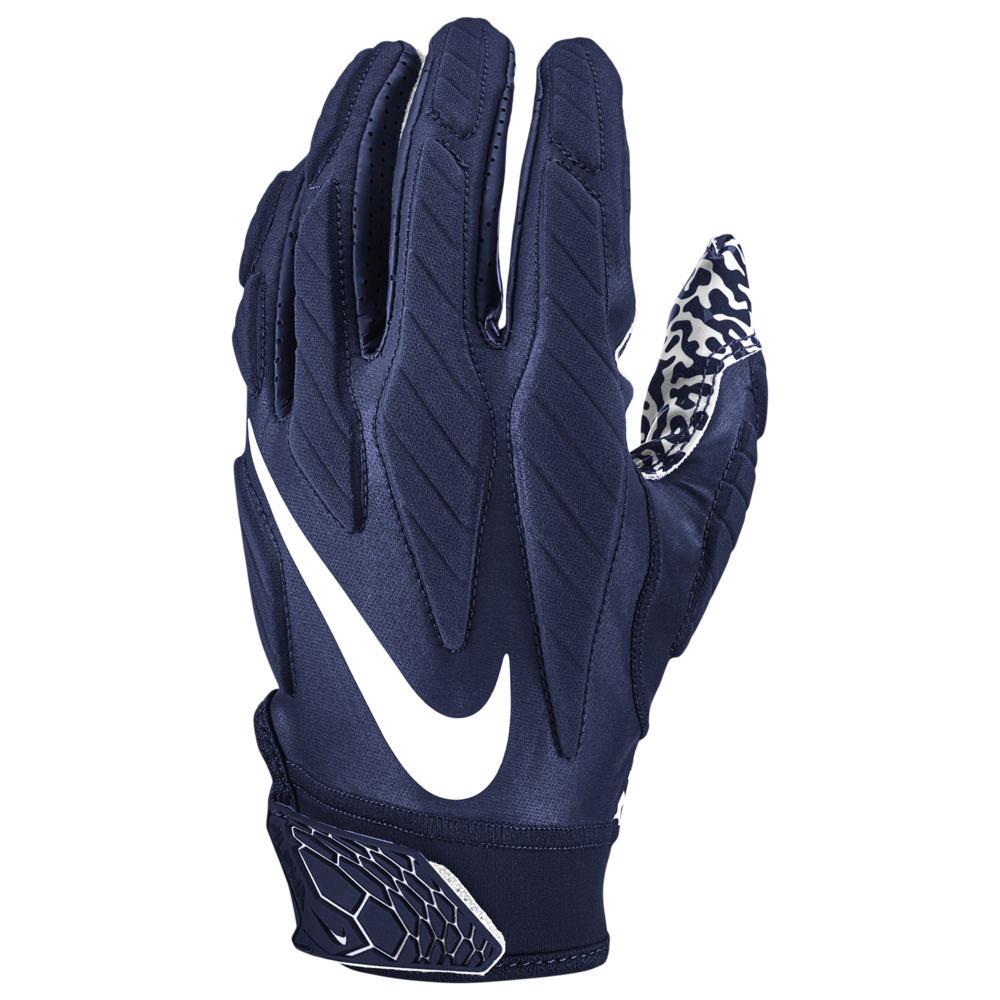 ナイキ Nike メンズ アメリカンフットボール グローブ【Superbad 5.0 Football Gloves】College Navy/White
