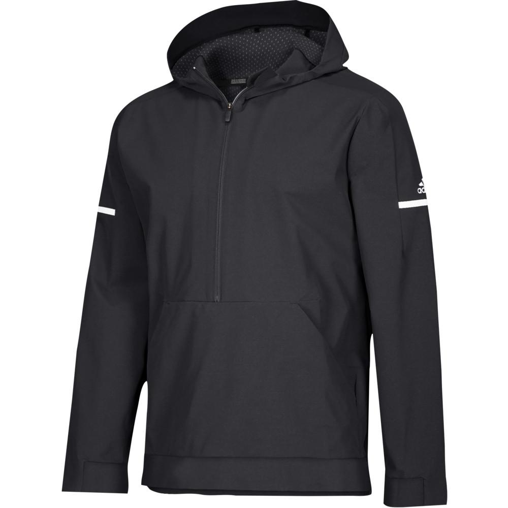 アディダス adidas メンズ フィットネス・トレーニング アノラック アウター【Team Squad Woven Anorak】Black/White