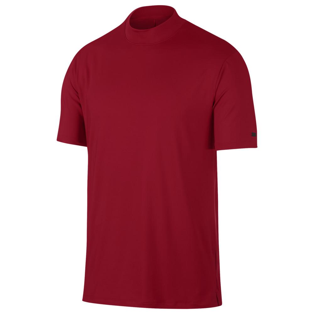 ナイキ Nike メンズ ゴルフ ポロシャツ トップス【TW Vapor Dry Golf Polo Mock】Gym Red Tiger Woods