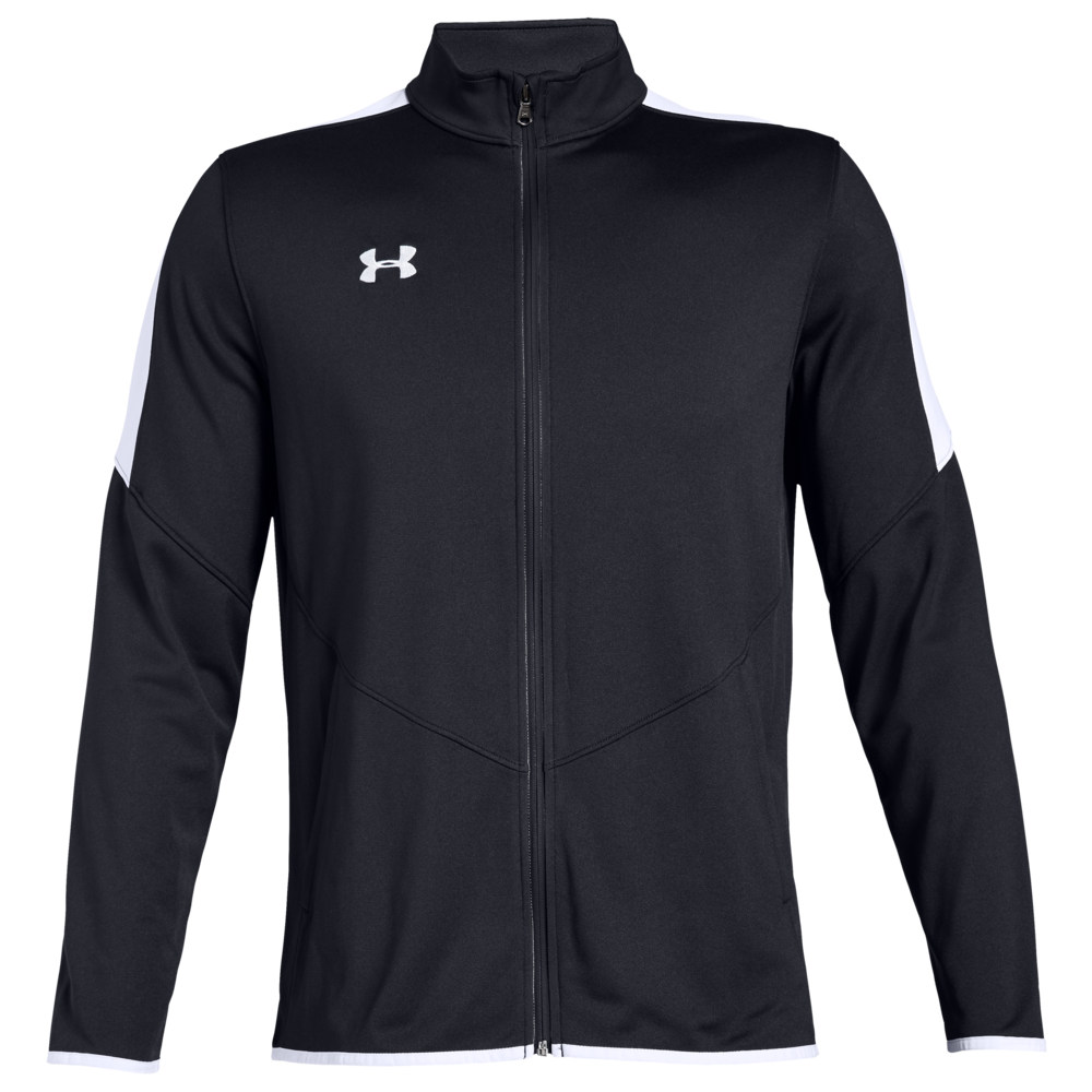アンダーアーマー Under Armour Team メンズ フィットネス・トレーニング ジャケット アウター【Team Rival Knit Warm-Up Jacket】Black/White