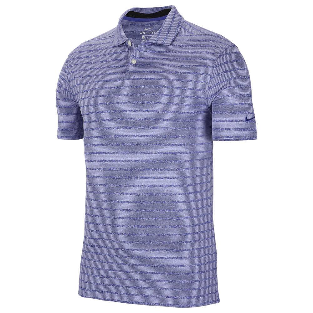 ナイキ Nike メンズ ゴルフ ポロシャツ トップス【Dry Vapor Stripe Golf Polo】Rush Violet/Pure Platinum
