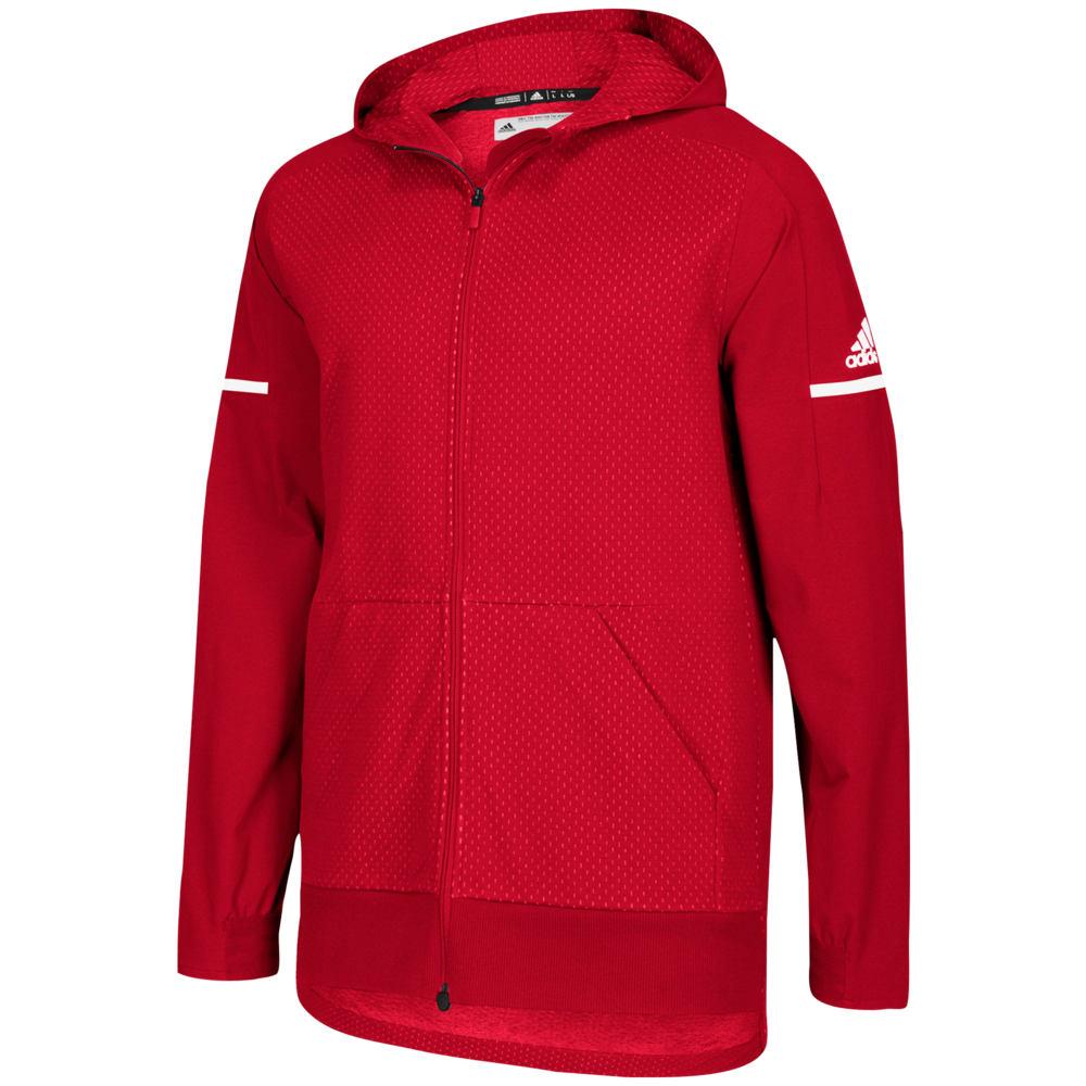 アディダス adidas メンズ フィットネス・トレーニング ジャケット アウター【Team Squad Jacket】Power Red/White