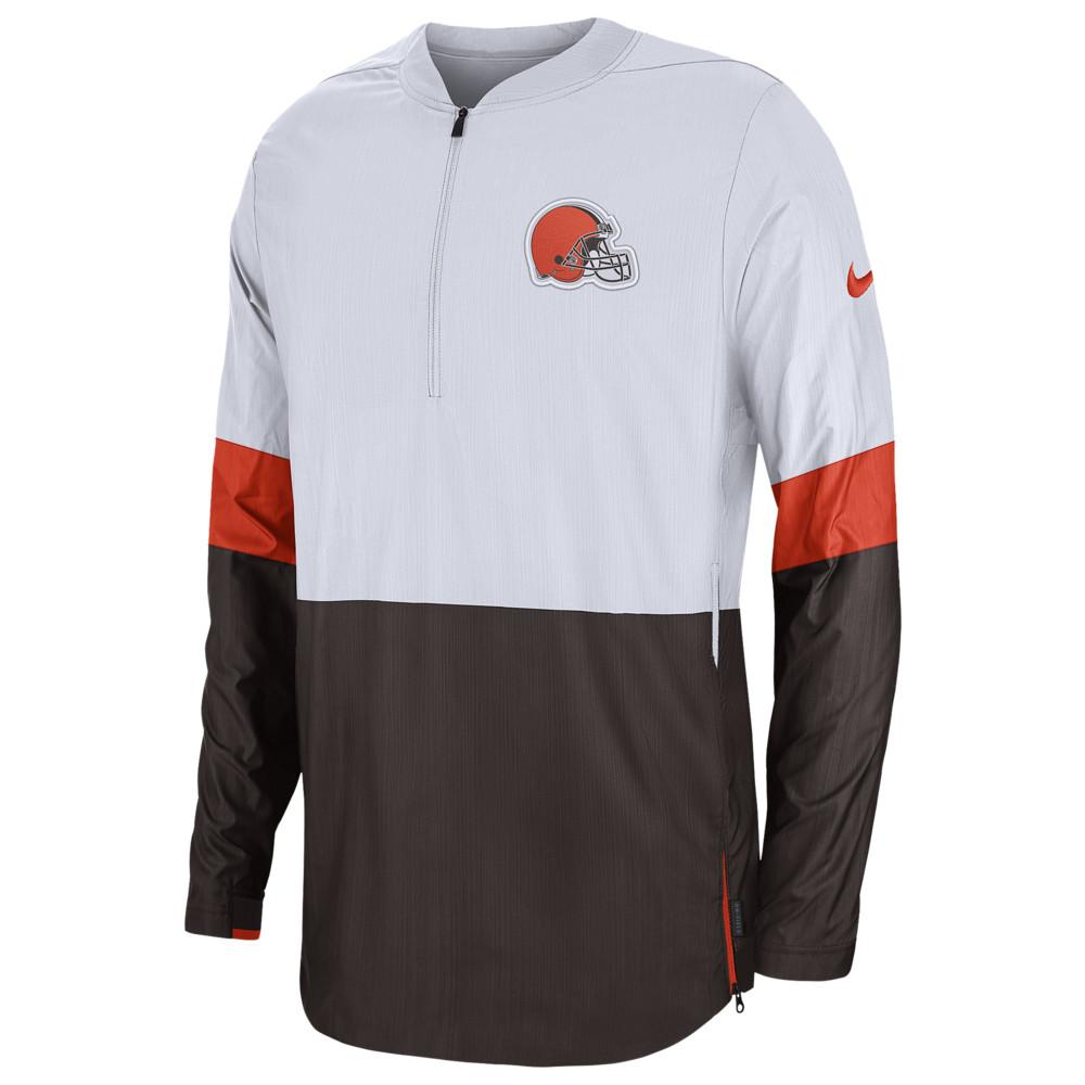 ナイキ Nike メンズ アメリカンフットボール アウター【NFL Lightweight Woven Sideline Jacket】NFL Cleveland Browns White