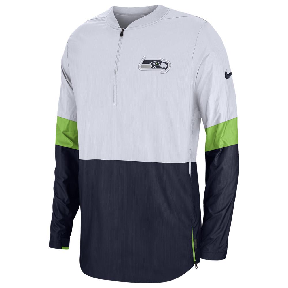 ナイキ Nike メンズ アメリカンフットボール アウター【NFL Lightweight Woven Sideline Jacket】NFL Seattle Seahawks White