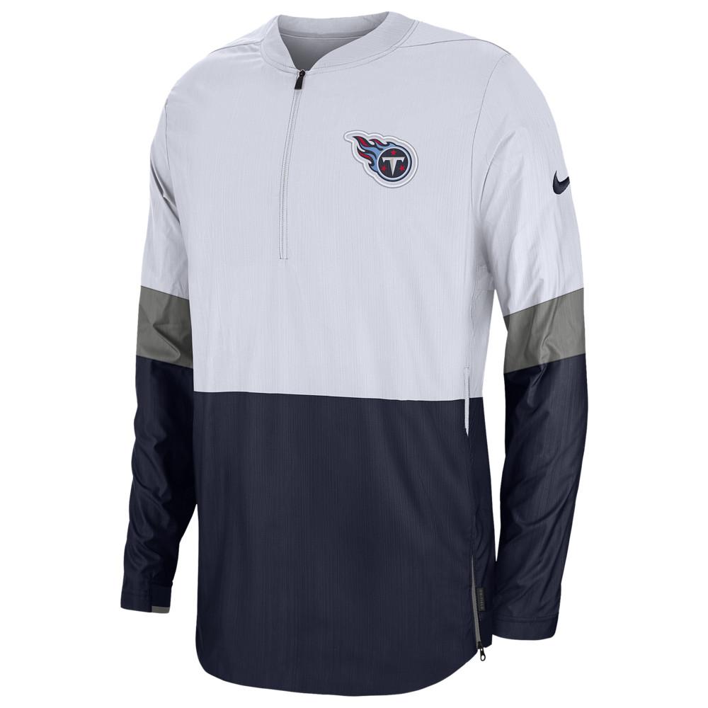 ナイキ Nike メンズ アメリカンフットボール アウター【NFL Lightweight Woven Sideline Jacket】NFL Tennessee Titans White