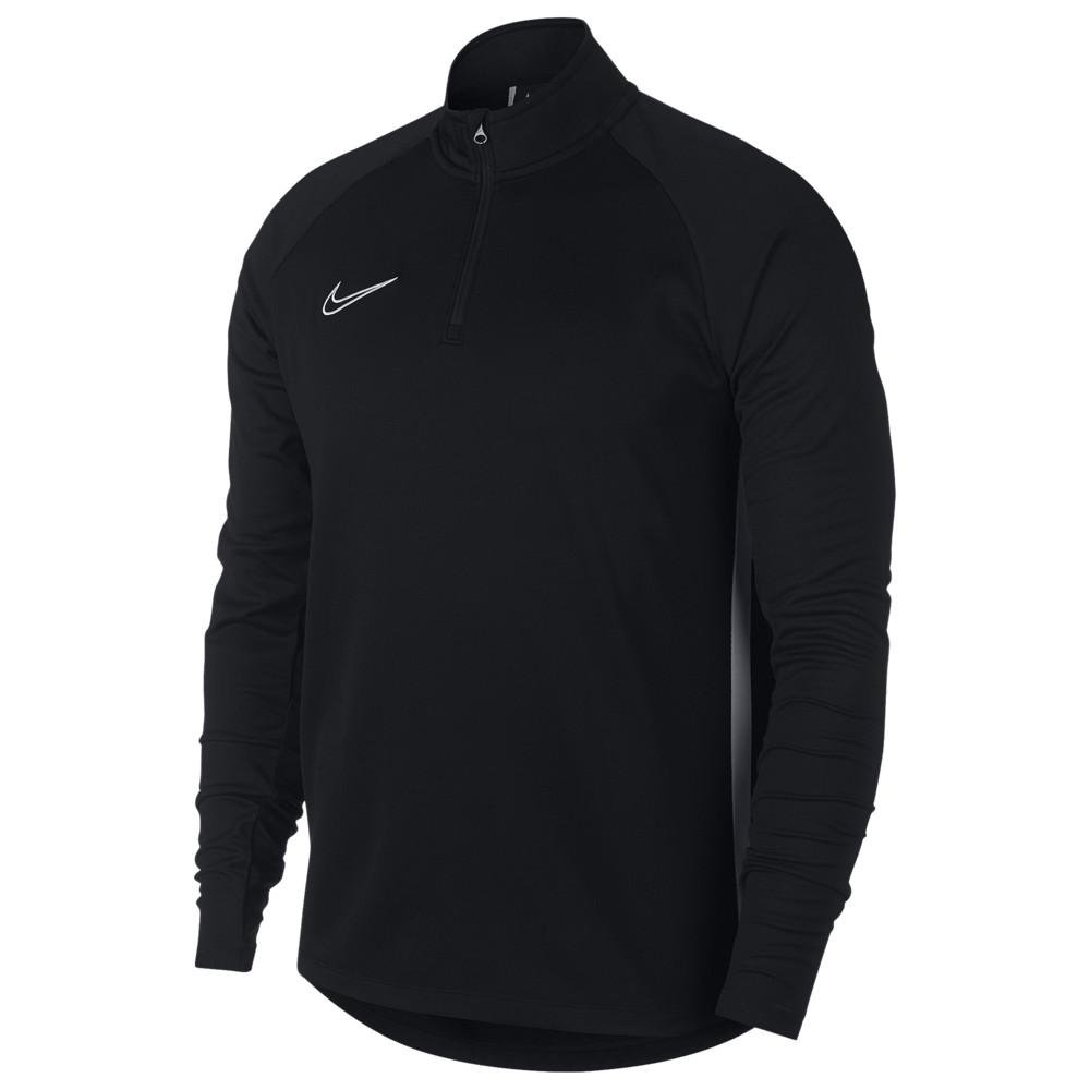 ナイキ Nike メンズ サッカー ハーフジップ トップス【Academy Knit 1/2 Zip Top】Black/White