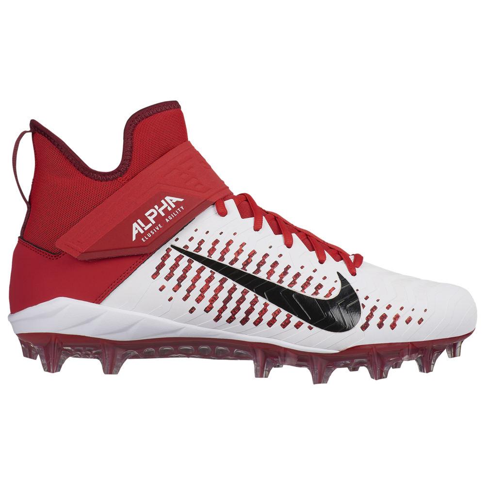 ナイキ Nike メンズ アメリカンフットボール シューズ・靴【Alpha Menace Pro 2 MID】White/Black/University Red
