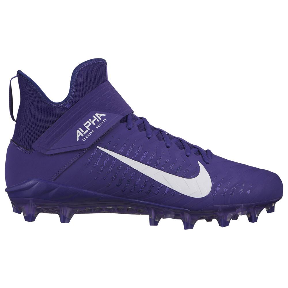 ナイキ Nike メンズ アメリカンフットボール シューズ・靴【Alpha Menace Pro 2 MID】Court Purple/White/Regency Purple