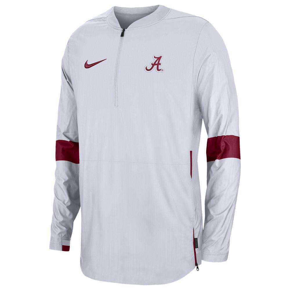 ナイキ Nike メンズ ジャケット アウター【College Lightweight Woven Sideline Jacket】NCAA Alabama Crimson Tide White