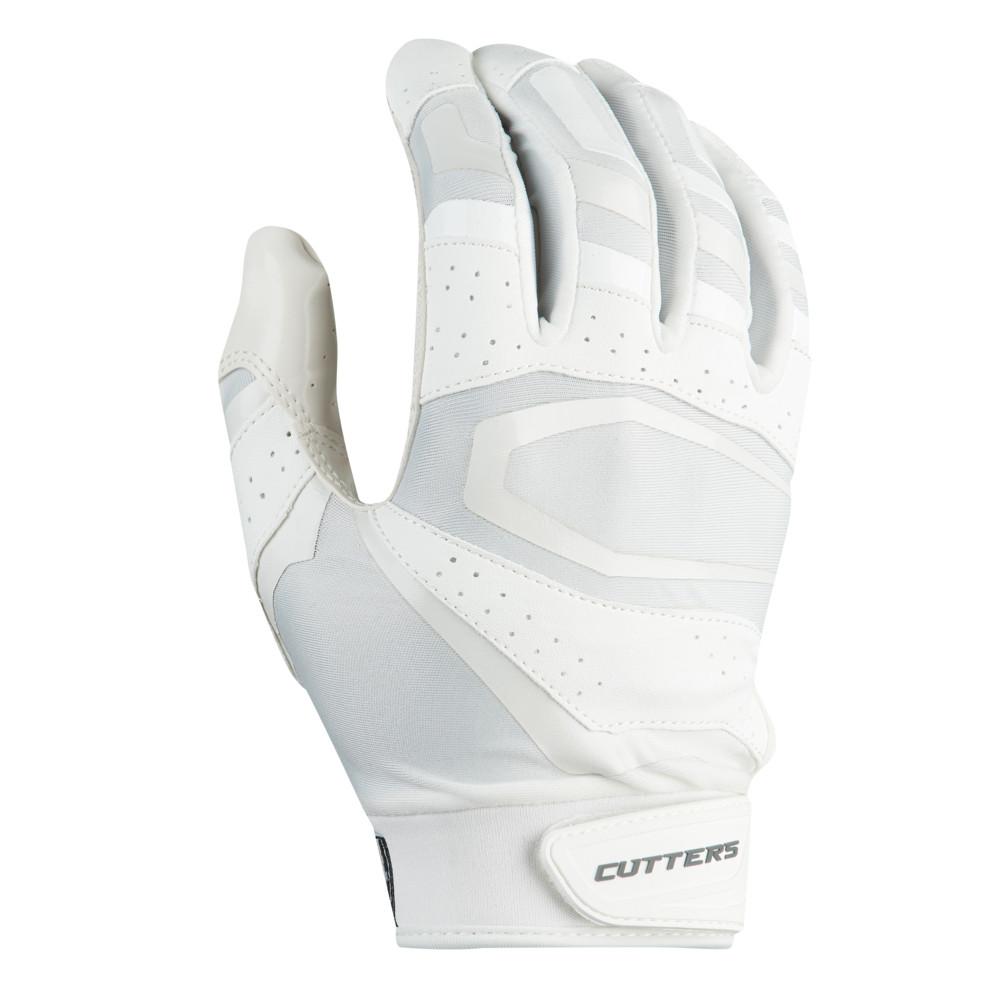 カッターズ Cutters メンズ アメリカンフットボール レシーバーグローブ グローブ【Rev Pro 3.0 Solid Receiver Gloves】White