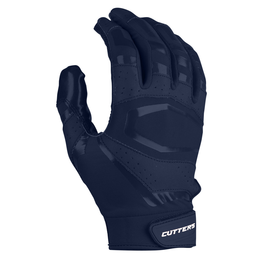 カッターズ Cutters メンズ アメリカンフットボール レシーバーグローブ グローブ【Rev Pro 3.0 Solid Receiver Gloves】Navy Exclusive