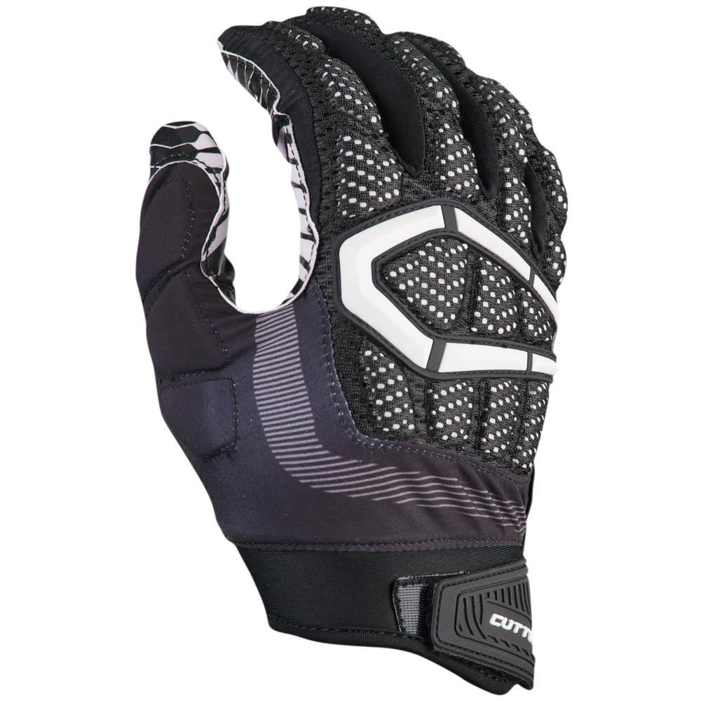 カッターズ Cutters メンズ アメリカンフットボール グローブ【Gamer 3.0 Padded Football Gloves】Black